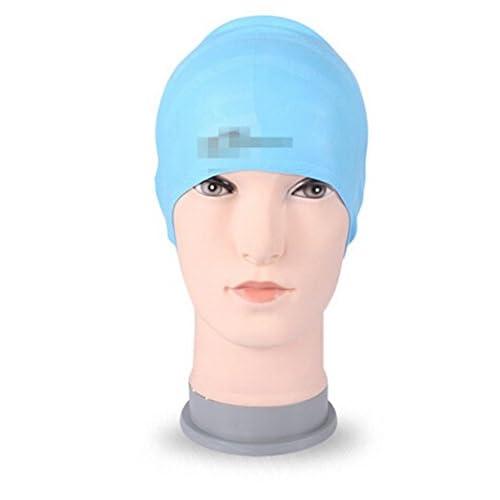 Bonnets de Bain en silicone cap de natation cheveux long pour adultes Homme Femme