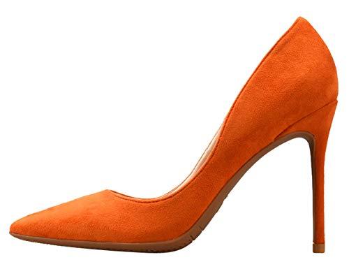 Mukavat Klassinen Ja Luistaa Kengät Oranssi Mokka Bigtree Naisten Liiketoiminta Teräväkärkiset Korkokengät Pumput IqExZwva