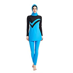 KXCFCYS Modest Swimwear Long Sleeve Swimsuit Bathing Suit Beachwear Costume