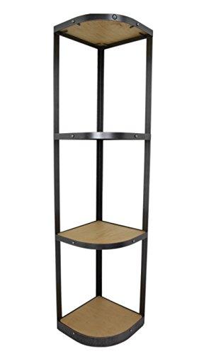 Enclume Hammered Four Steel - Enclume 4 Tier Unassembled Corner Stand Hammered Steel
