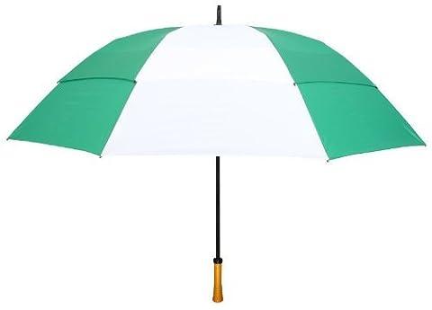 Leighton 64 Inch Windefyer Fiberglass Frame, Evergreen/White, One Size - Evergreen Golf Umbrella