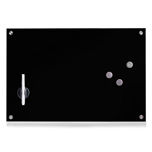 Zeller 11661 Memoboard, Glas, schwarz