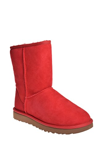 UGG Women's Classic Short II, Ribbon Red, 9 M US