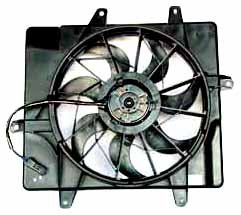 TYC 620440 eplacement Radiator/Condenser Cooling Fan Assembly