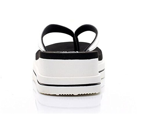 Sandals Fashion Mid Women's Glossy Heel Bottom Slippers Anti skid Boowhol Belt Flip Flops awEf5q