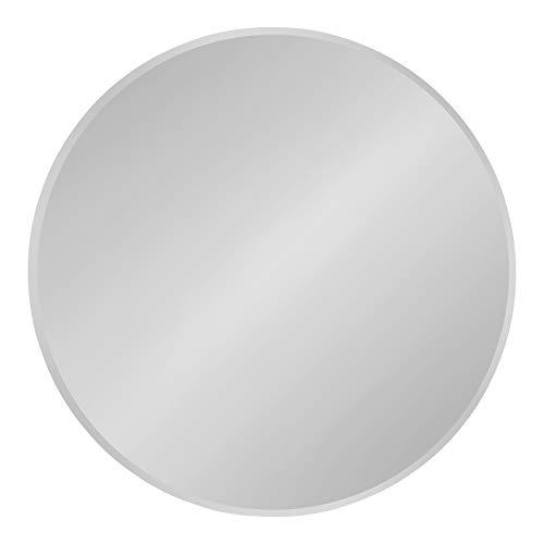 Kate and Laurel Azalea Modern Frameless Decorative Round Wall Mirror, 26-Inch Diameter