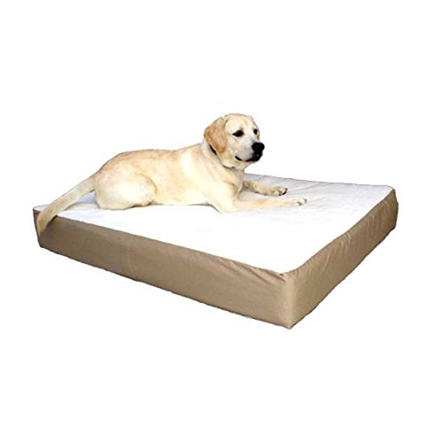 34x48 Khaki Orthopedic Double Pet Dog Bed by Majestic Pet Products Large Cushion to Extra Large with Removable Washable Cover