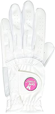 Lady Classic Soft Flex Gloves with Magnetic Ball Marker, White, Medium
