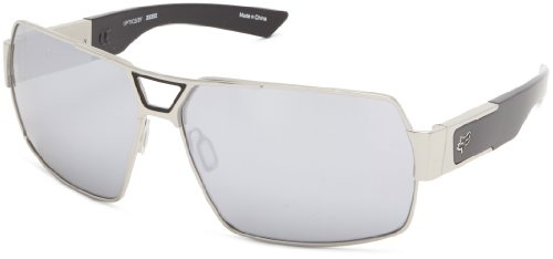 Fox The Meeting 06325-901-OS Rectangular Sunglasses,Polished Chrome Spark,65 - Fox Sunglasses