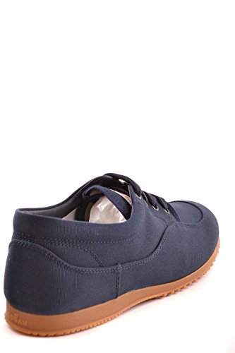 Hogan Mens Mcbi148087o Sneakers In Tessuto Blu