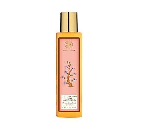 Forest Essentials Cold Pressed Body Massage Oil Mysore Sandalwood & Vetiver - 200ml