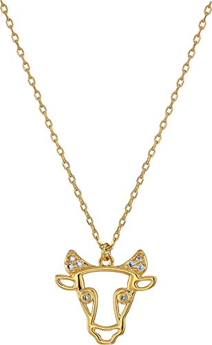 Kate Spade New York Women's Celestial Charm Taurus Pendant Necklace Clear/Gold One Size ()