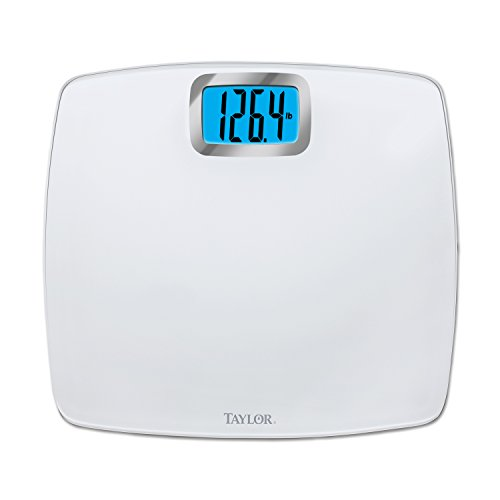Taylor Glass Digital Bath Scale, Pure White