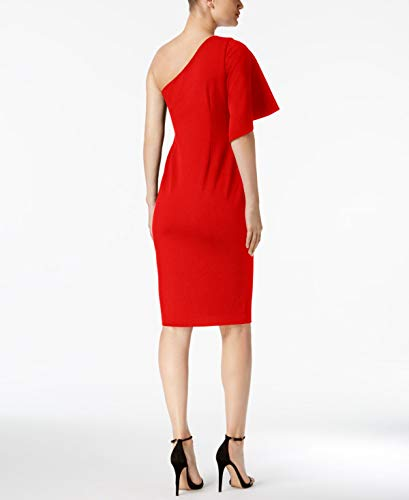 Klein One 6P Sheath Shoulder Womens Calvin Red Dress aH4qdyZ