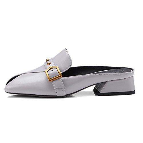 de Mocasines SHINIK Summer mujer Gris Spring mocasines Zapatillas Zapatos Negro 2018 Flat Slip Segundo y cuero de Ons Rrrtxz