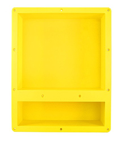 Shower Niche Shelf Organizer Tray - Durable ABS, Waterproof & Leakproof Craftsmanship, Sleek Design – Flush Double Mount Tile Ready 16