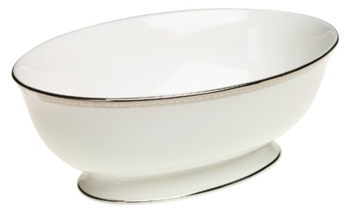 Lenox Murray Hill Platinum-Banded Bone China Open Vegetable Bowl