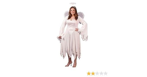 Amazon.com  Adult Plus Size Velvet Angel Costume-Sizes 16-24  Clothing 2bf439ebe5ae