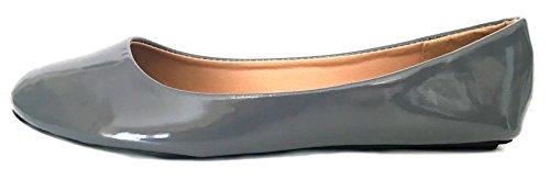 Shoes8teen Shoes 18 Womens Faux Suede Rhinestone Ballerina Ballet Flats Shoes 4051 Grey/Grey awqfZ0U