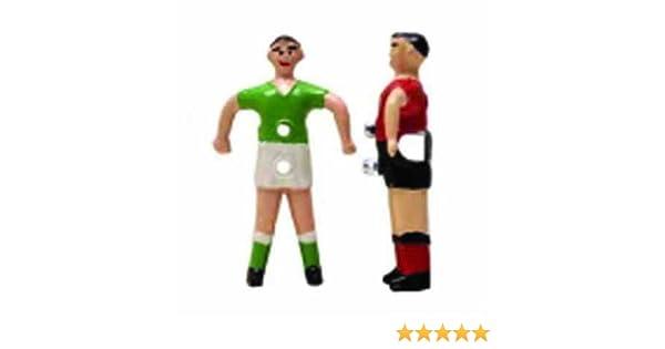 Presas Jugador futbolin Barra 14mm Color Rojo 1 unid: Amazon.es: Deportes y aire libre