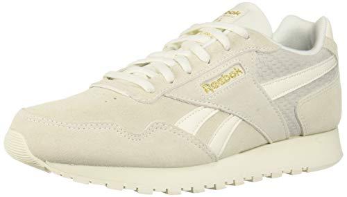 Reebok Women's Classic Harman Run Sneaker Chalk/Gold Metallic 8 M US ()