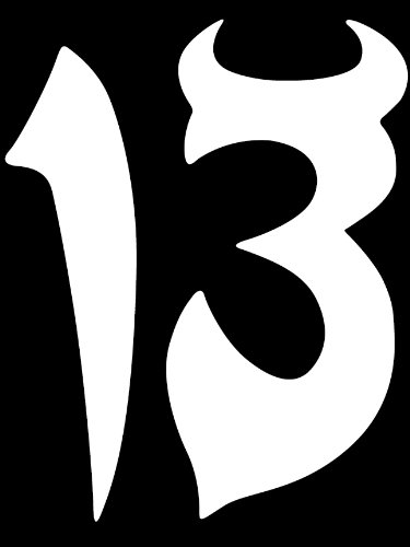 Lucky Number 13 Thirteen Vinyl Decal Car Window Sticker JDM FREE USPS - For Shipping Usps Times