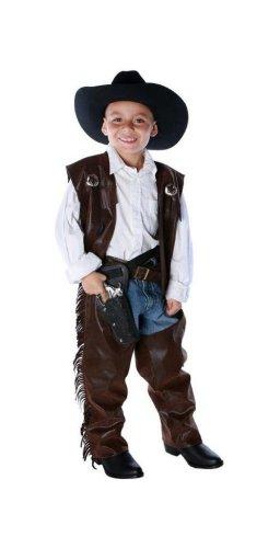Vest And Chaps Cowboy Costumes (Cowboy Chaps/vest Child Costume - Large/X-Large)
