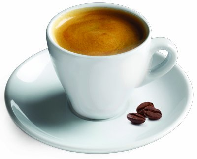 - Cuisinox Espresso Cup and Saucer in White Porcelain, Set of 2