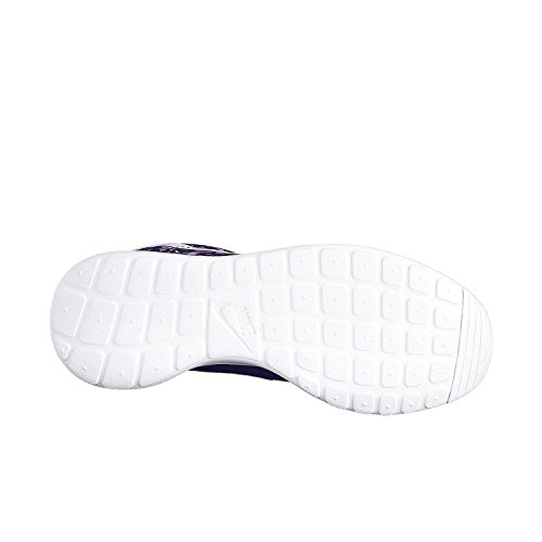 Nike Mujeres Rosherun Print Magenta / Blanqueado Turq / Corte Púrpura / Blanco 599432-511