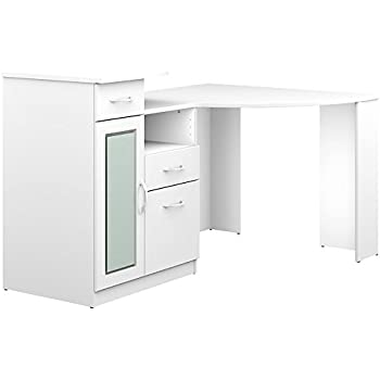Bush Furniture Vantage Corner Desk In Pure White