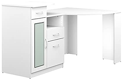 e height left hand pedestal corner reality drawers and office prod white desk flite