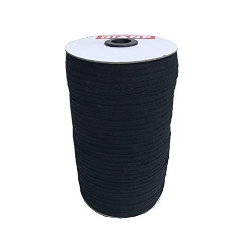 QIANF 100% Cotton Black Eco Friendly Twill Tape 1/4