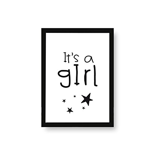 Kenay Home Foil It 'S A Girl Paper A4, White and Black, 210x 297mm