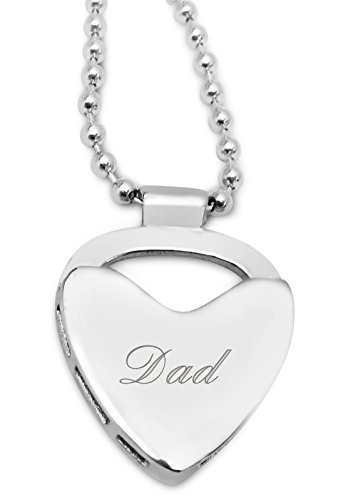 Dad Halskette mit Plektrumhalter, personalisierbar bis zu 30 Buchstaben), Q25P ideale Geschenk