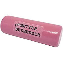 The Better Deshedder Twin Blade Dog Grooming Brush Reduces Shedding by 90%!! (Pink)