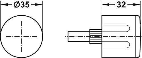 M/öbelschloss Drehknauf mit Vierkantstift L/änge 28 mm T/ürkn/öpfe f/ür Schrank-Schl/össer Gedotec Drehknopf Caravan Wohnmobil f/ür Push-Lock Aufschraubschl/össer 2 St/ück Kunststoff Chrom matt