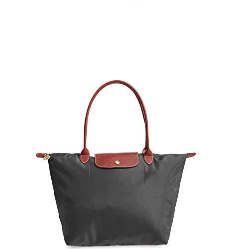 Longchamp 'Large 'Le Pliage' Tote Shoulder Bag, Gunmetal