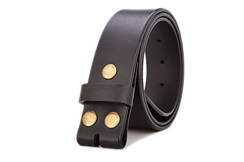 (Gurscour Men's Belts Genuine Leather Belt without Buckle 1.5