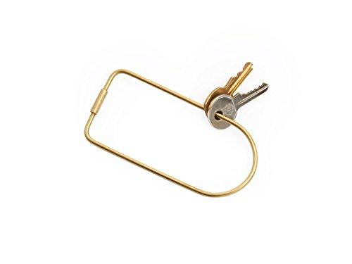 Areaware Contour Key Ring (Bend, Brass)
