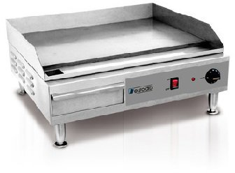 Eurodib SFE04900 Electric Griddle With Dial Thermostat Splash Guard Adjustable Feet and 22