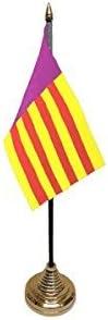 Pack de 6 Mallorca España español de sobremesa mesa centro Bandera Banderas con oro Bases Ideal para fiestas conferencias oficina pantalla: Amazon.es: Hogar