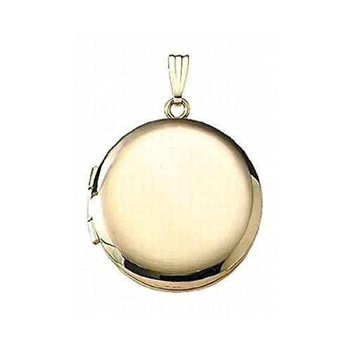 PicturesOnGold.com 14K Gold Filled Round Locket 1 Inch X 1 Inch