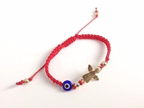 Newborn Bracelets evil eye – Mal de Ojo Guardian Angel Baby Protection Adjustable Red String Bracelet