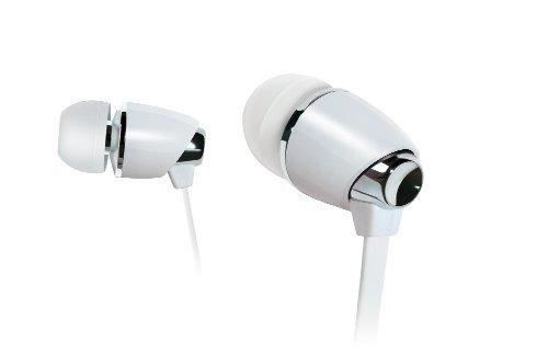 Bell'O Digital BDH440 Precision Bass-Ear Earbud Stye Headphone, Piano White/Chrome by Bell'O Digital