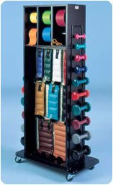 Sammons Preston Combination Weight Rack with Mirror Accessorized Multi-Purpose Combination Rack by Sammons Preston
