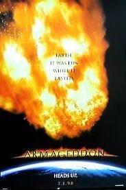 amazon com armageddon 1998 original authentic movie poster 27x40