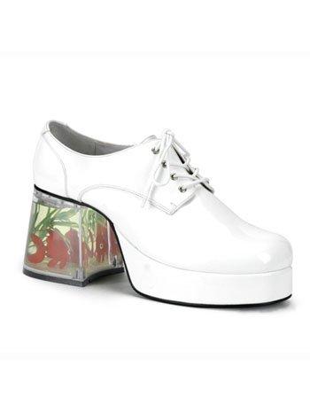 White Pimp Shoes (White Pimp Costume Fish Platform Shoe - M)
