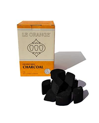 (Le Orange Hookah Charcoal, 100% natural, For Lotus Heads, HMD 1kg)