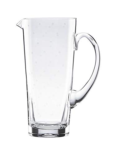 (Lenox kate spade new york Larabee Dot clear glass 64 oz Pitcher with etched polka dots.New in box)