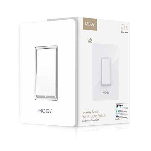 3 Way WiFi Smart Wall Light Switch Wireless Remote APP Control From Anywhere Compatible with Alexa and Google Home Timer Function No Hub Require(3-Way Smart Switch (1 ()
